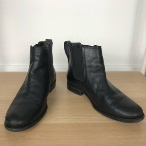 LLBEAN black leather Chelsea boots size 7.5